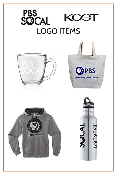 PBS SoCal KCET Logo Items Merchandise