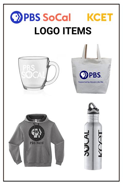 PBS SoCal KCET Logo Items Merchandise