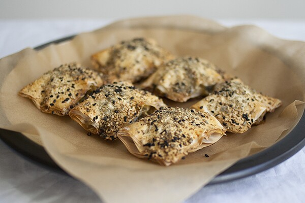 Spinach Packages with Sesame and Za'atar