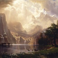 """Albert Bierstadt, Among the Sierra Nevada, California, 1868 