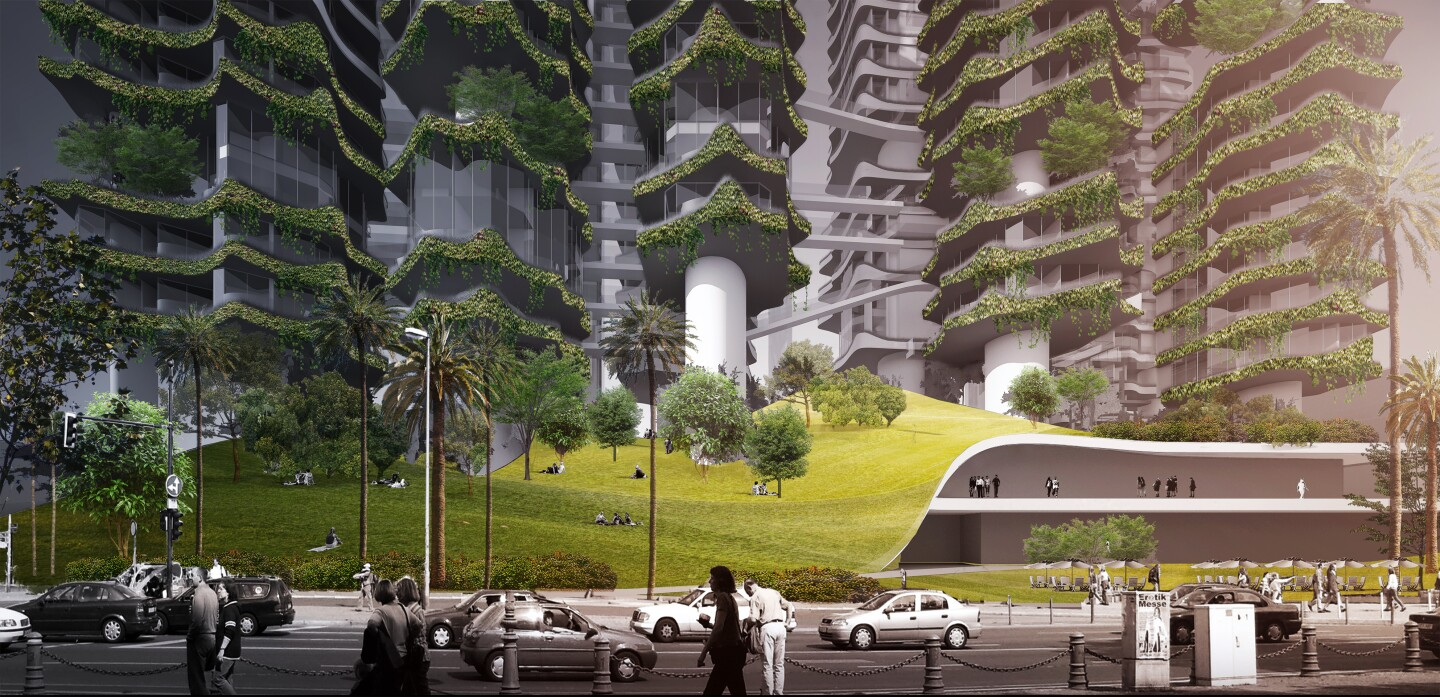 Cloud Corridor rendering by Mad Architects