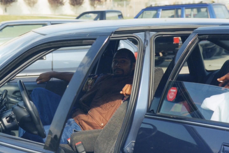 Antonio Carrion in Car