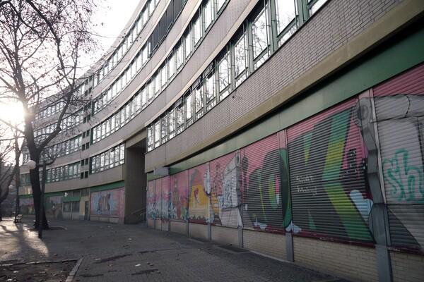 Painted shutters in Kreuzberg