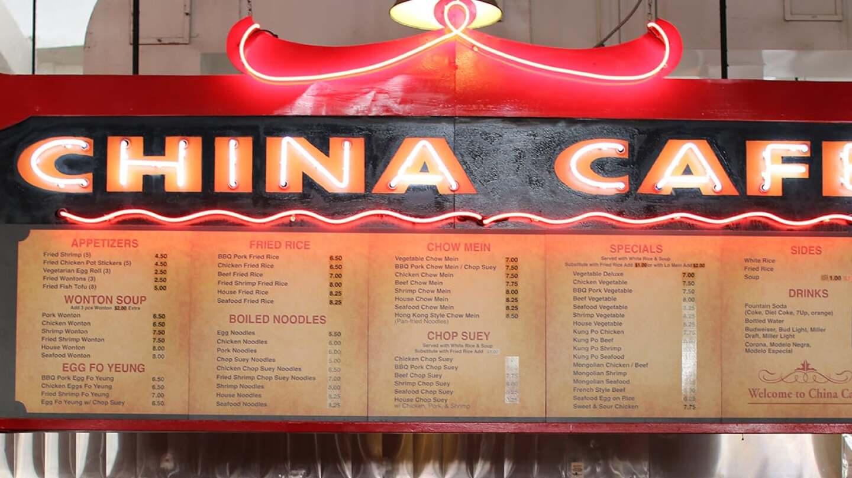 China Cafe sign at Grand Central Market | Samanta Hernandez Helou