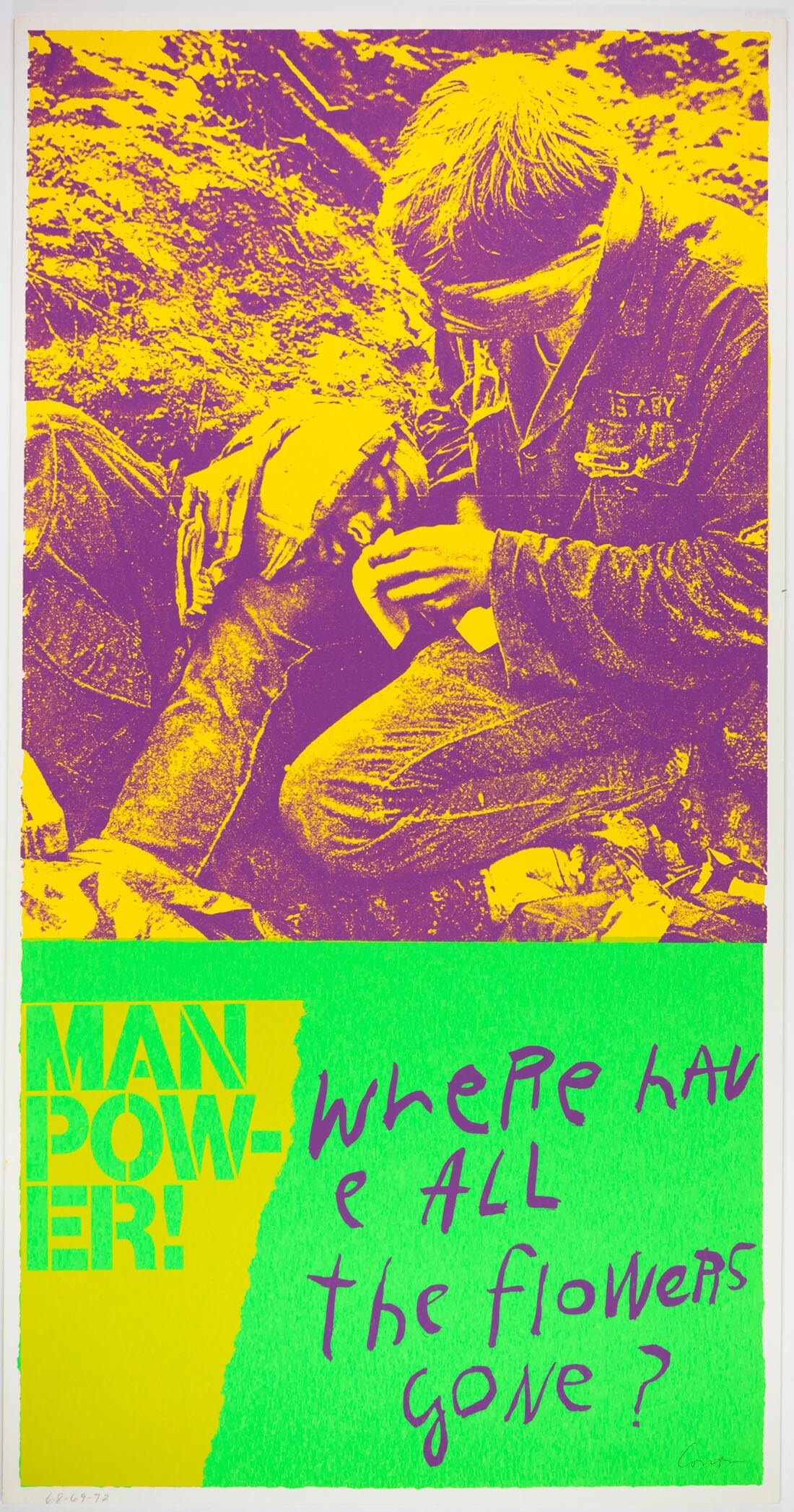 manflowers, 1969| Collection UCLA Grunwald Center for the Graphic Arts, Hammer Museum. Corita Kent Bequest.