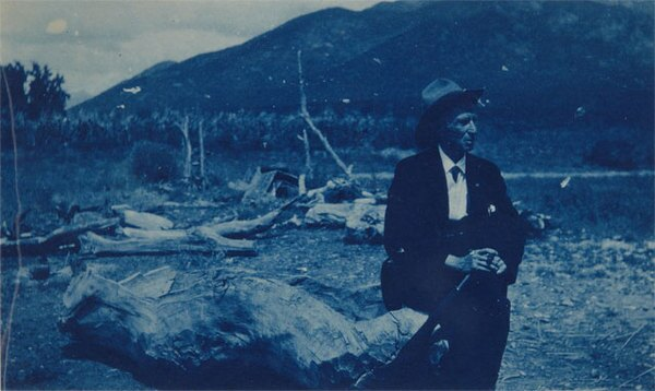 Lummis in New Mexico, 1927. Courtesy of the Autry National Center