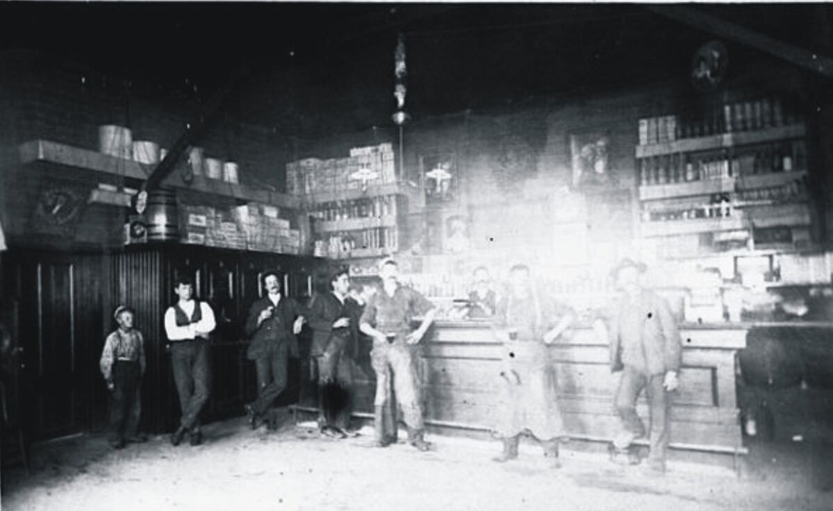 Inside 7 Mile House in the early 1900s | Courtesy of 7 Mile House