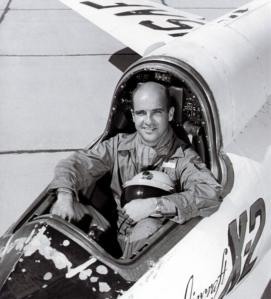 Captain Mel Apt in a Bell X-2. | United States Air Force