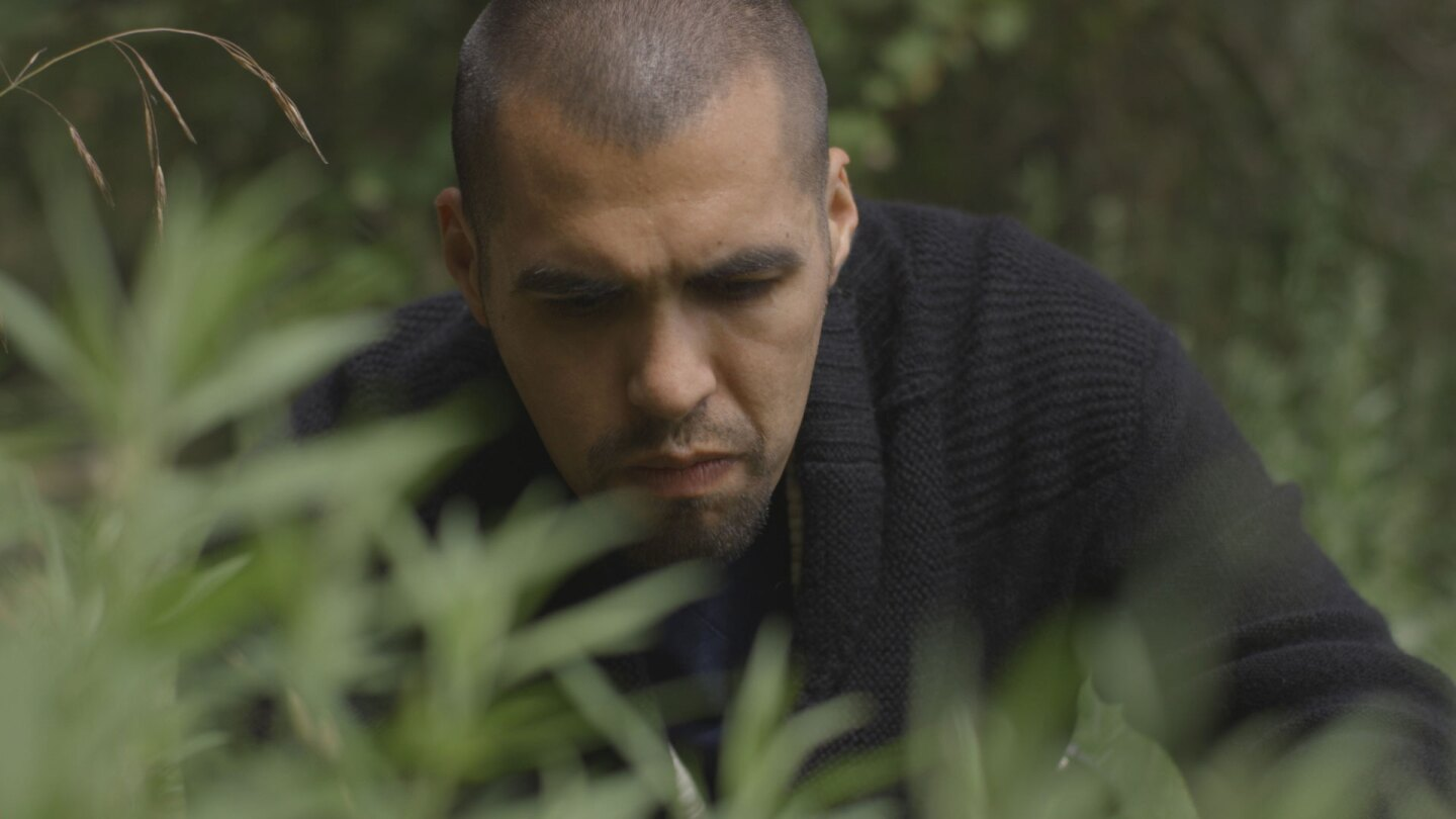"Vincent Medina (Chochenyo Ohlone) | Still from ""Tending Nature"""