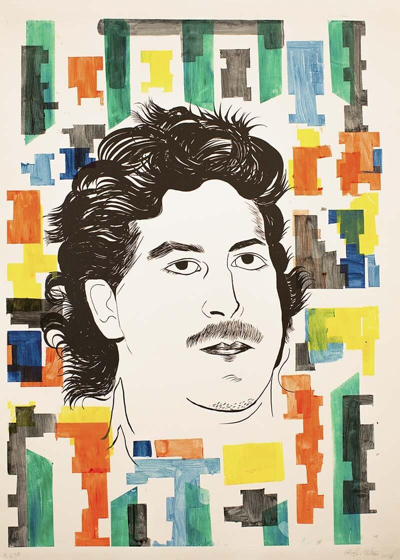 Carolyn Castaño Untitled (Drug Lord and Patron), 2010. Monoprint   Courtesy of El Nopal Press