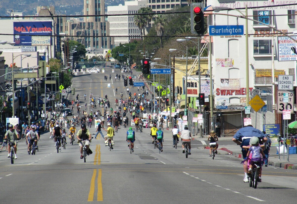 The first CicLAvia in 2010