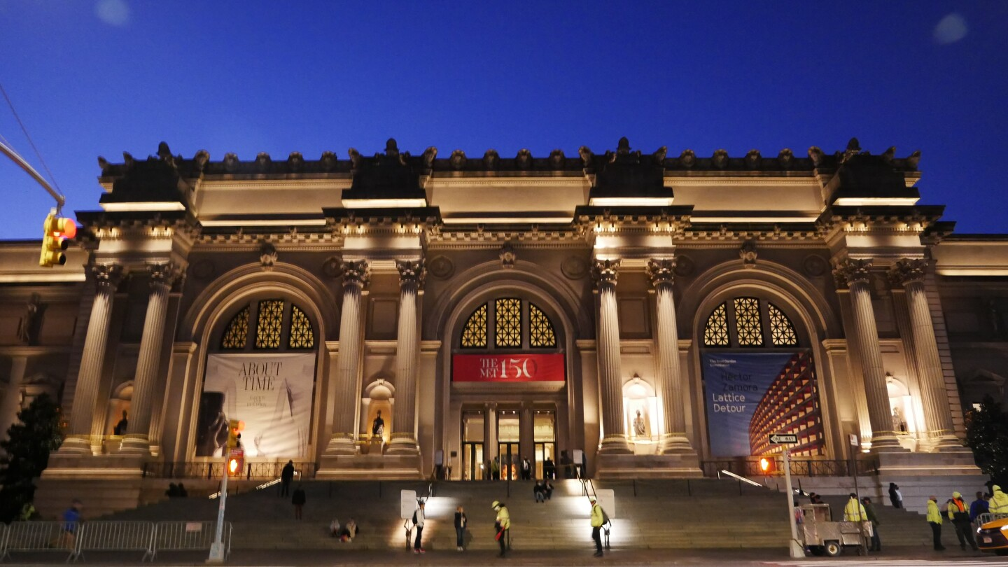 "The Met Museum, New York, as the Wangechi Mutu's sculptures are installed, from ""INSIDE THE MET The Met Museum""."