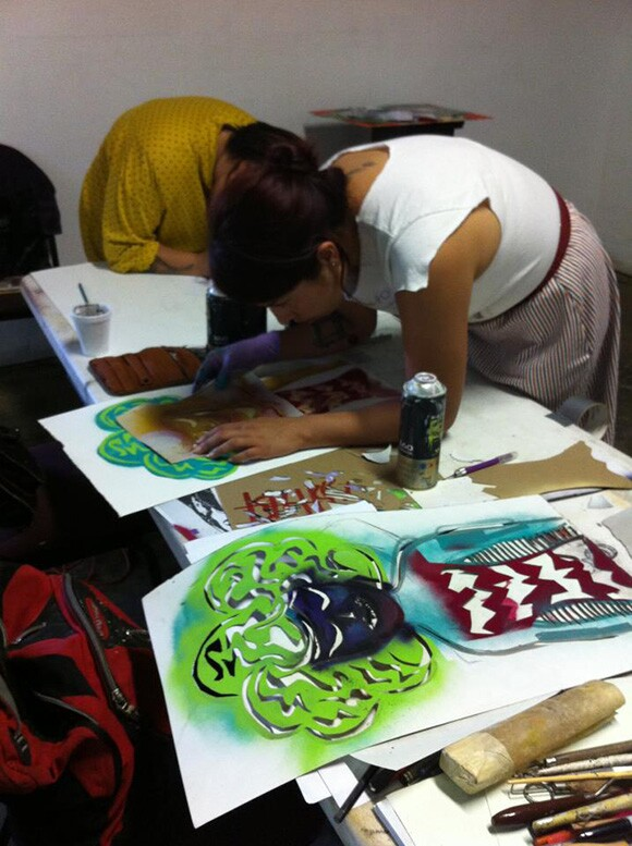 Stenciling Workshop hosted by Freelance.