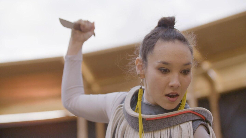 "Kelci Hahn as Makwa in ""Sweet Land"" | Photos by Casey Kringlen for The Industry"