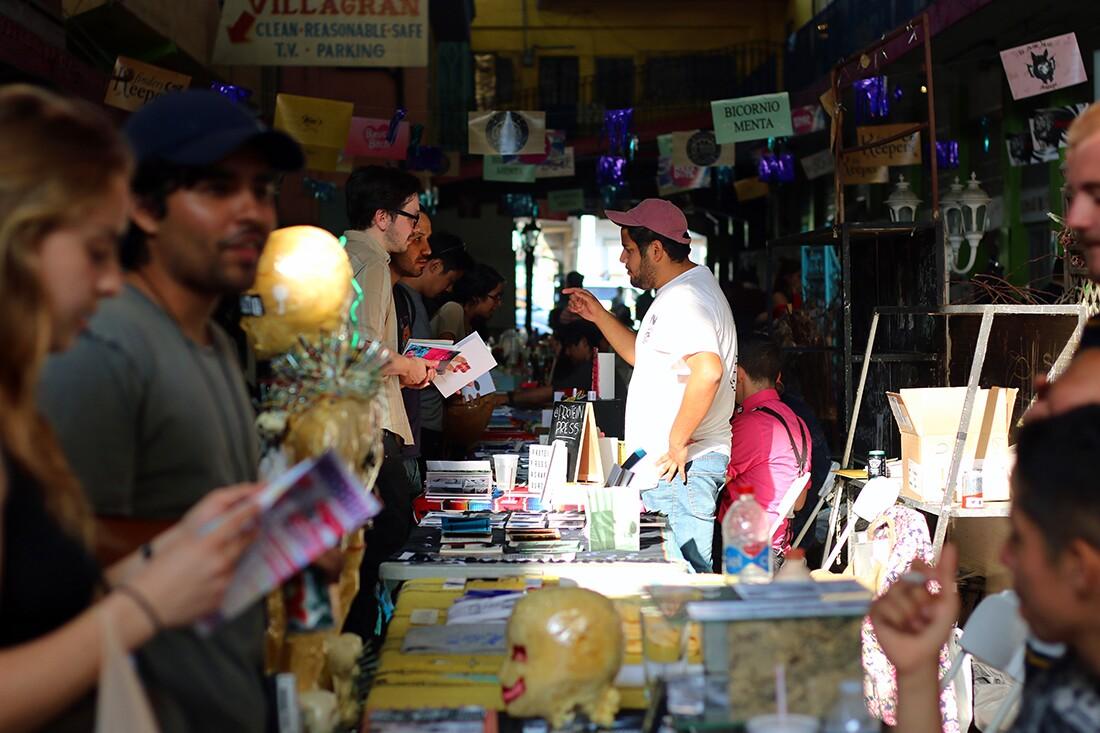Tijuana Zine Fest on Pasaje Gomez | Samanta Helou Hernandez