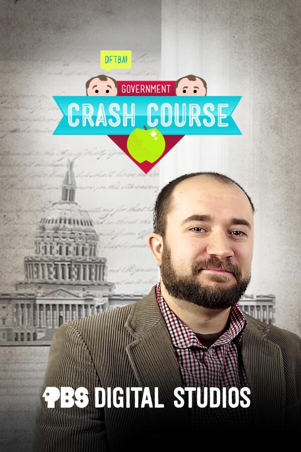 "Poster image for ""Crash Course Government"" featuring host Craig Benzine."