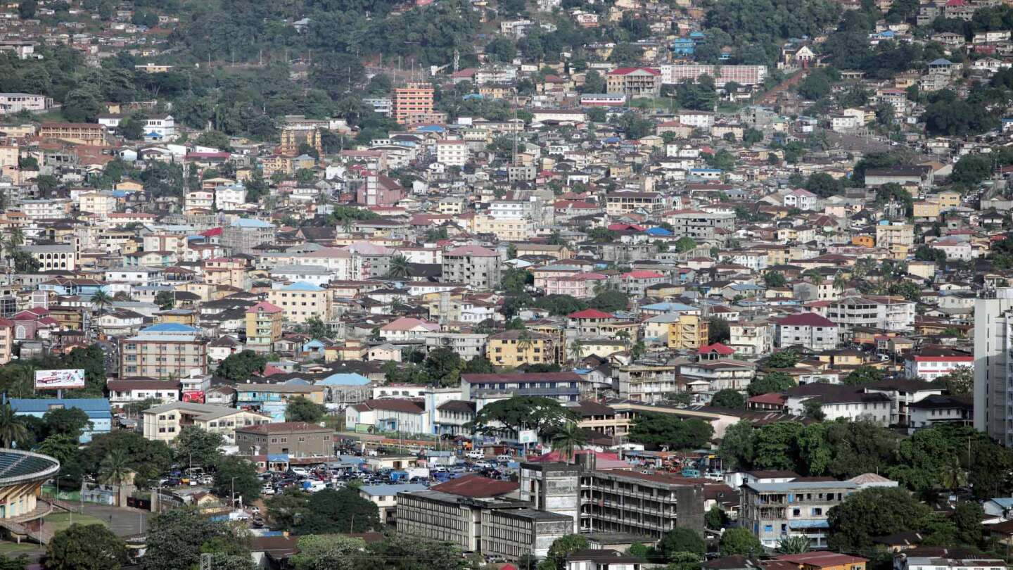 Aerial image of urban density in Freetown, Sierra Leone. | Nicky Milne/Thomson Reuters Foundation