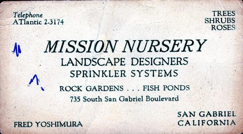Fred Yoshimura business card