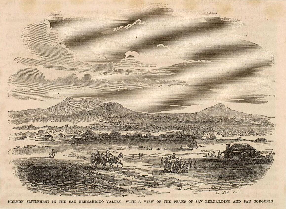 Mormon colony of San Bernardino