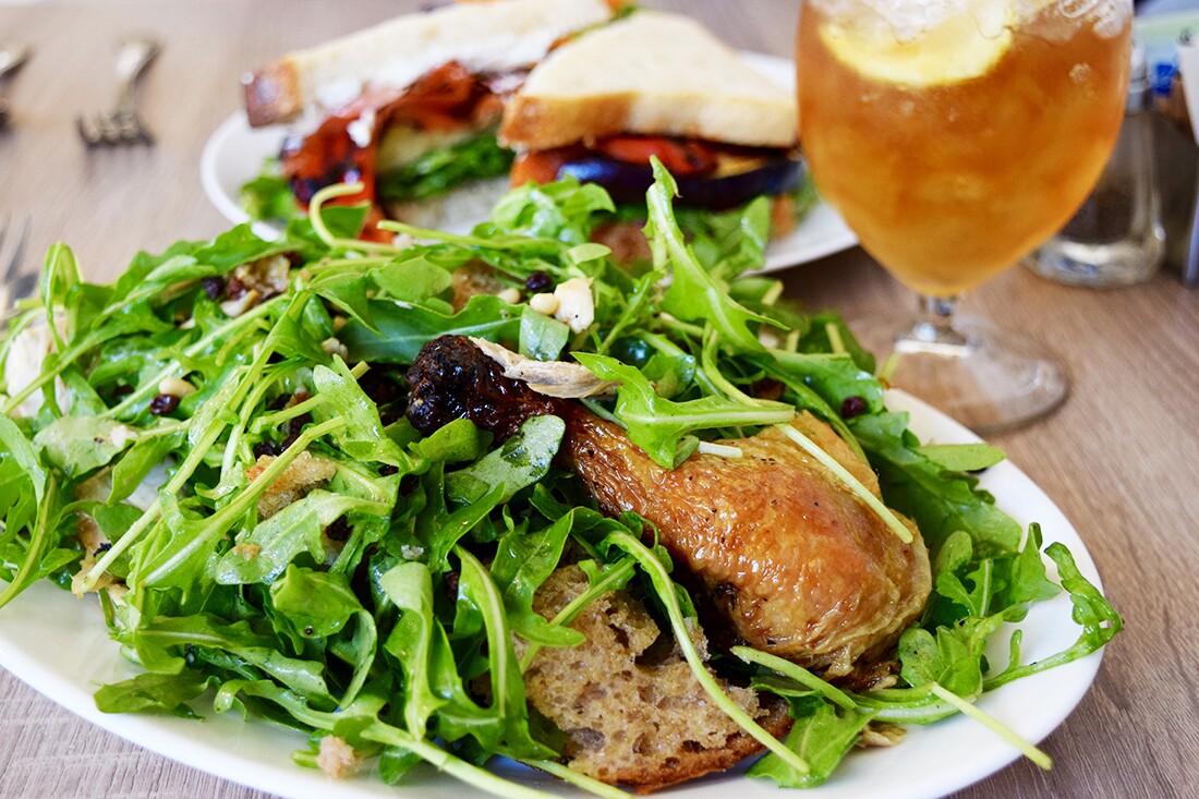 Roast chicken and bread salad at Plenty on Bell   Danny Jensen