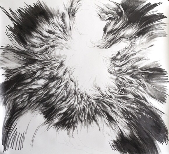 """Virgil 01,"" 51""x56"", Graphite on Paper (2013)"