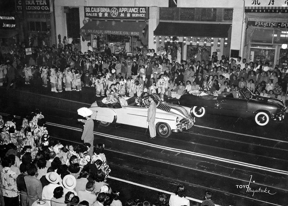 The 1949 Nisei Week Parade | Courtesy of Toyo Miyatake Studio
