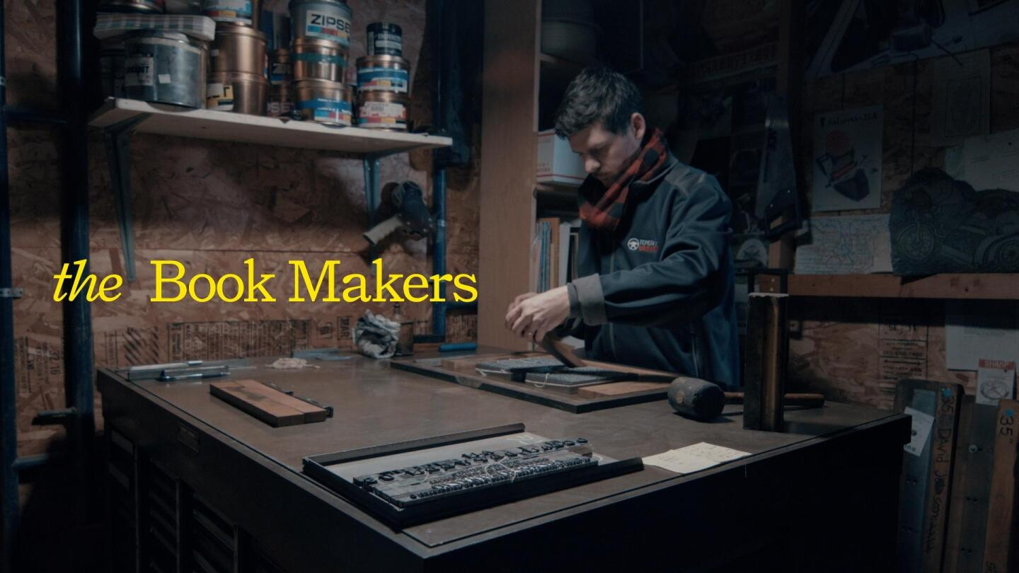 A person in the process of crafting a book.