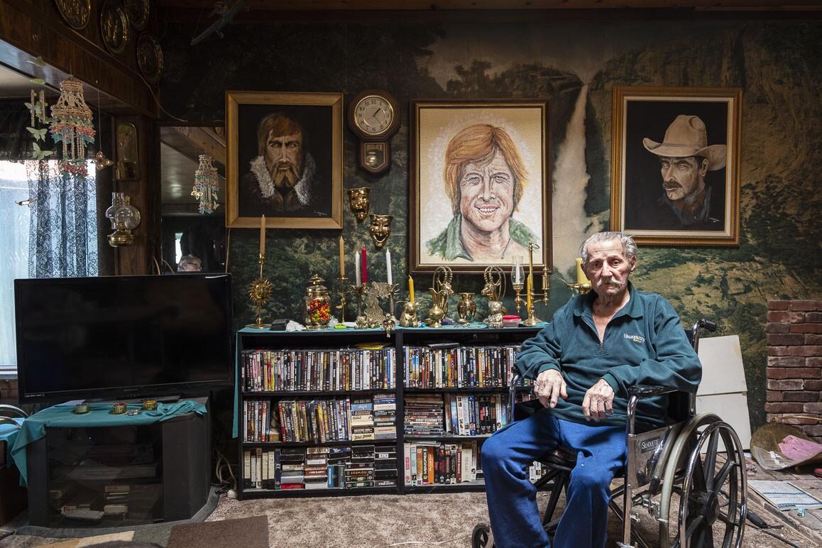 Artist Monty Brannigan is a resident of Darwin, California