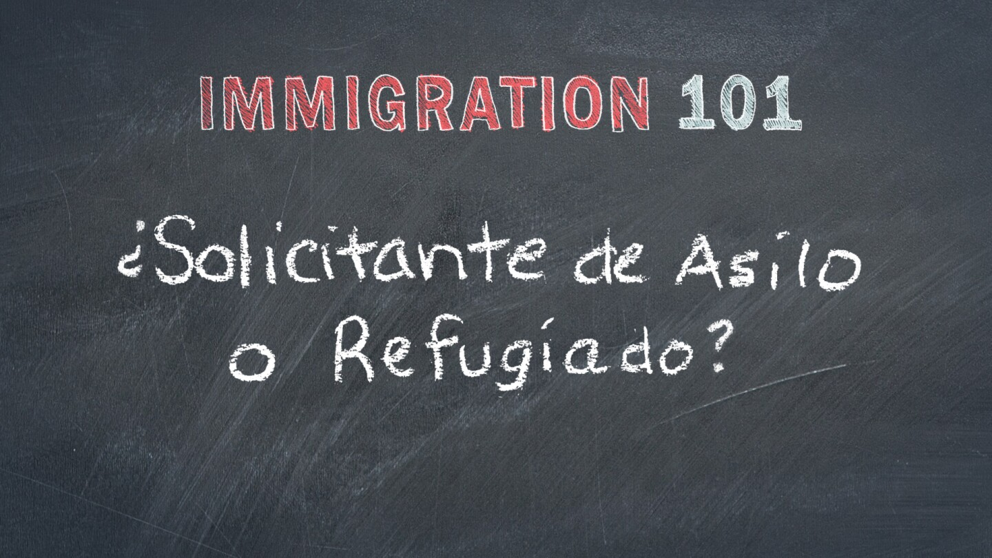 Refugees or Asylum Seekers Spanish Graphic