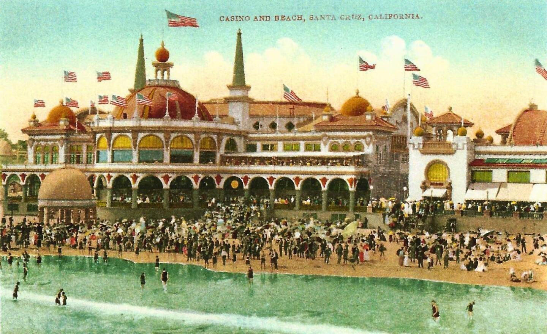 vintage postcard santa cruz