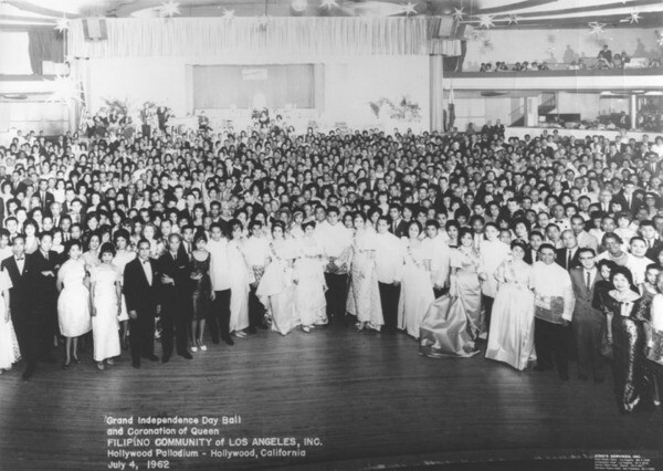 Grand Independence Day Ball and Coronation of Queen of the Filipino Community of Los Angeles, Inc. held at the Hollywood Palladium. July 4, 1962 | Courtesy of the Los Angeles Public Library