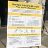 Coronavirus information poster | Alyssa Jeong Perry/LAist