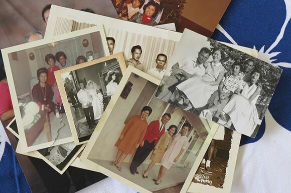 Lapiz family photos waiting to be digitized.   Photo: Catherine Trujillo, from the family album of Arcadia Lapiz.