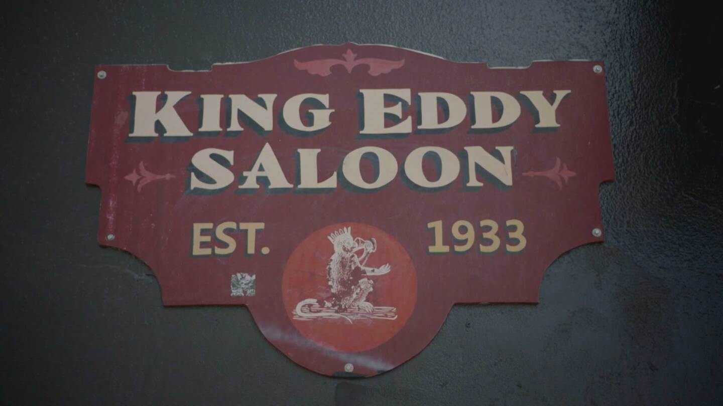 "King Eddy Saloon sign | Still from ""Lost LA"" Prohibition"