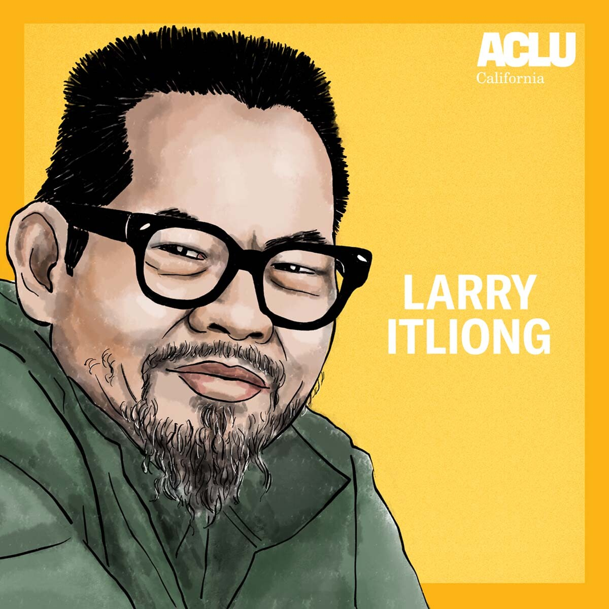 Portrait of Larry Itliong | Audrey Chan, ACLU SoCal