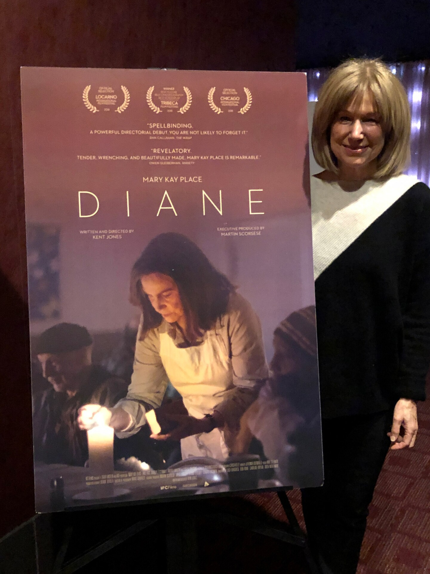 """Actor Mary Kay Place after a screening of """"Diane"""""""