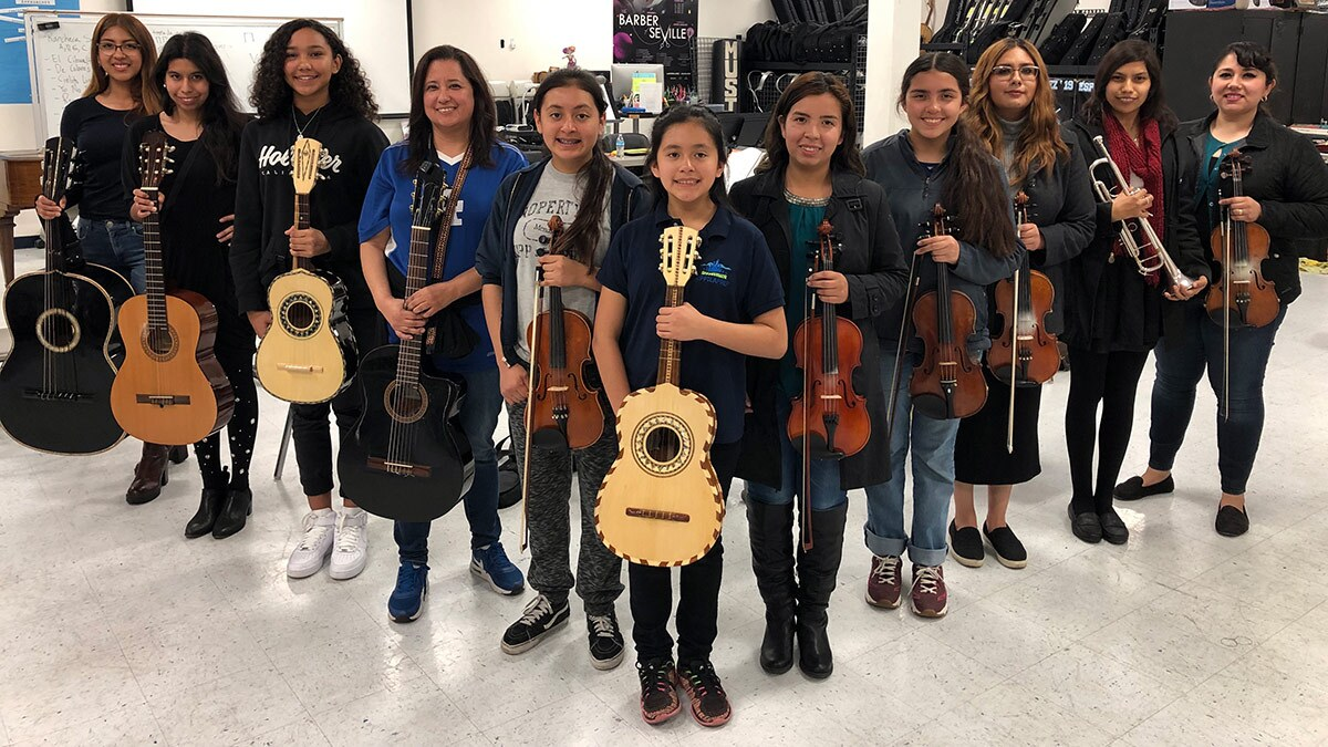 Mariachi Conservatory All-Female Ensemble. | Courtesy of Richard Mata