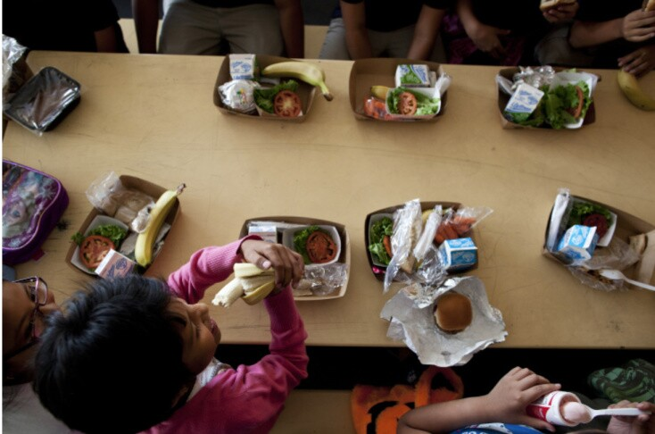 The L.A. Unified School District will open resource centers this week that will serve meals to kids and also open grab-and-go sites. | Benjamin Brayfield/KPCC