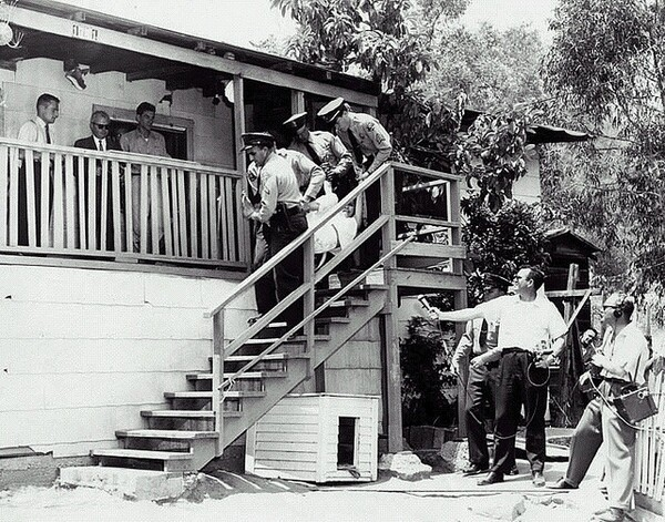 Chavez Ravine residents are forced out of their homes | Photo courtesy of the Los Angeles Public Library