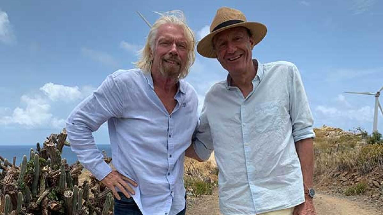 "Richard Branson (left) and Juuriann Kamp (right) | Behind the scenes of ""Kamp Solutons"""