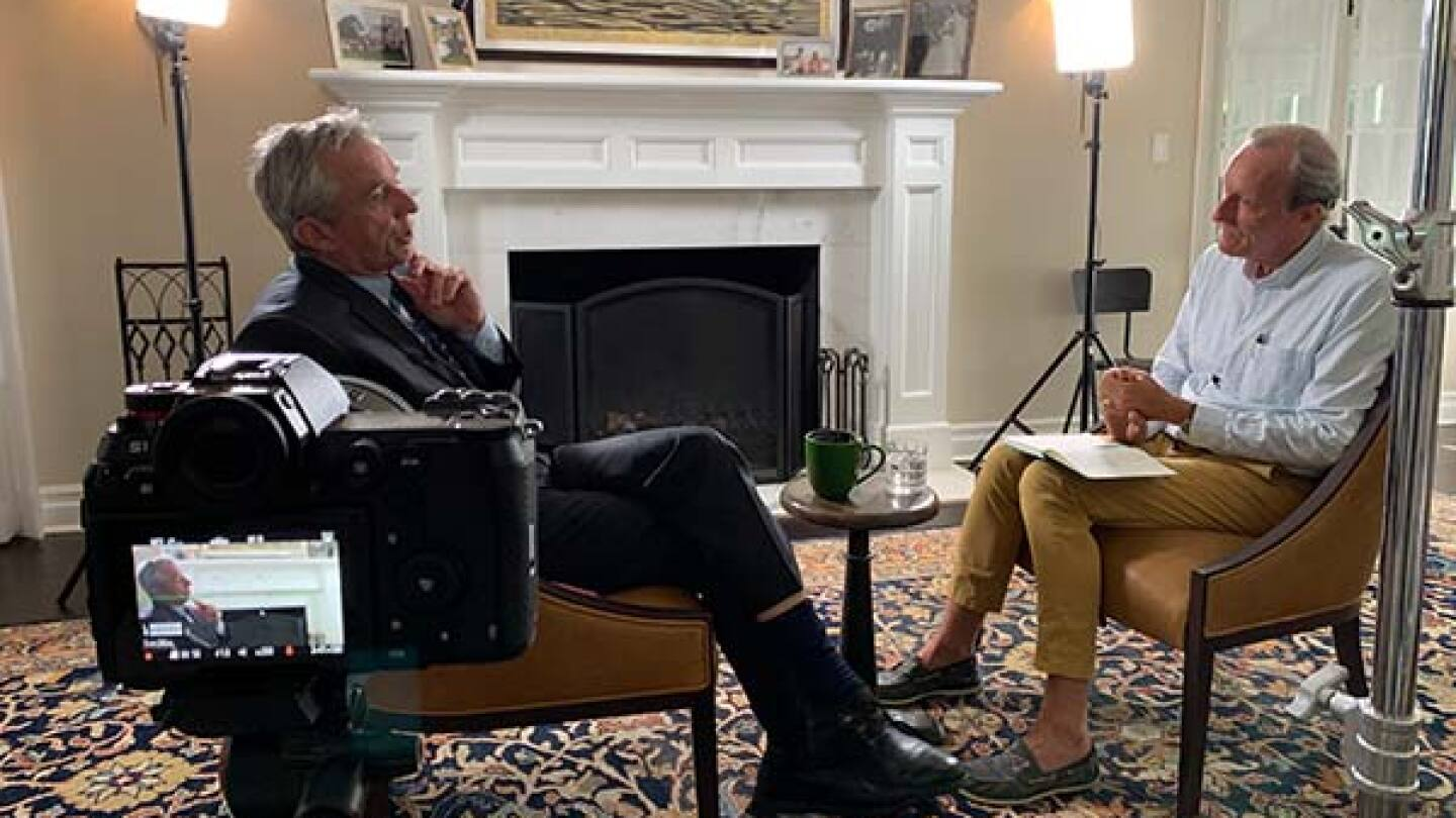 """Still from """"Kamp Solutions"""" interview with Robert F. Kennedy Jr."""