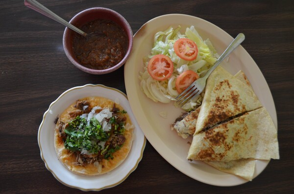 Quesadilla and tacos   Photo by Clarissa Wei