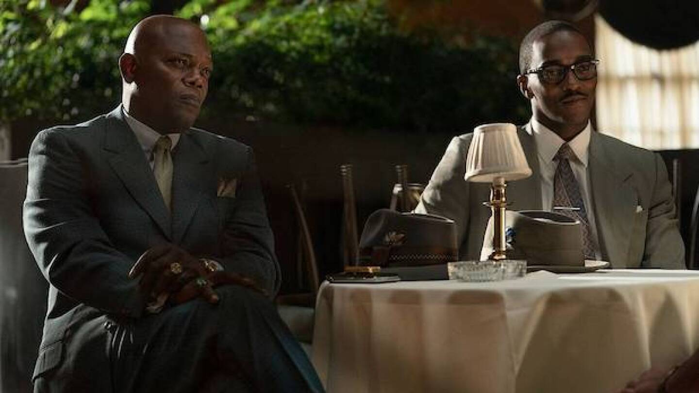 """Samuel L. Jackson and Anthony Mackie in """"The Banker"""""""