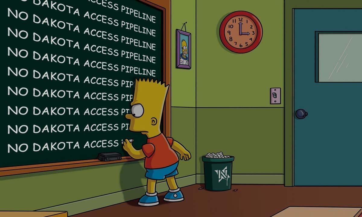 """Votan Henriquez, """"No Dakota Access Pipeline."""""""