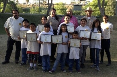 Transit to Trails Junior Ranger Graduation, 2013, with Dayana at the far right.