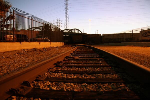 Arches during a December 2012 sunset taken from a railyard just east of the Los Angeles River I Photo by Ed Fuentes