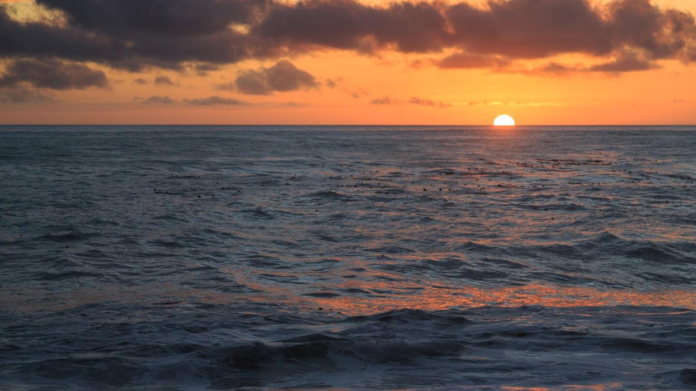 limekiln at sunset