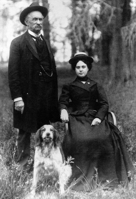 Lucky with his third wife Lilly Bennet. Image: Courtesy of Los Angeles Public Library