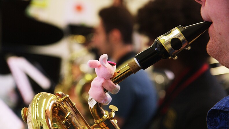 LAUSD students practice in preparation for Playboy Jazz Festival at Hollywood Bowl