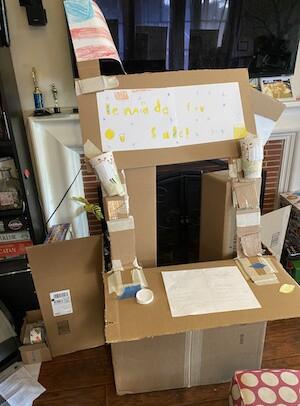 A prime example of cardboard architecture. | Courtesy Mayelle Nguyen